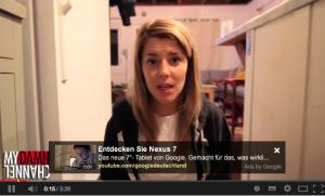 Beispielvideo mit In-Video-Werbung von dailygrace auf YouTube