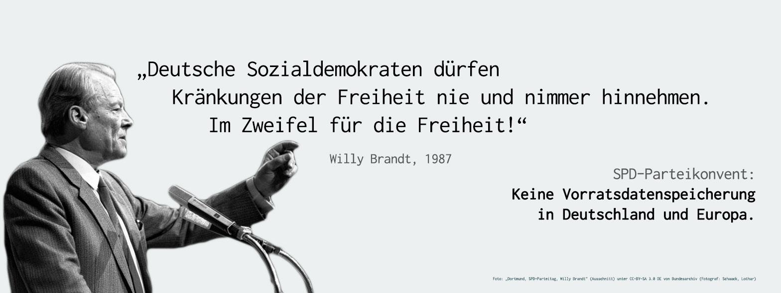 Willy Brandt Zitat Im Zweifel Für Die Freiheit Henning