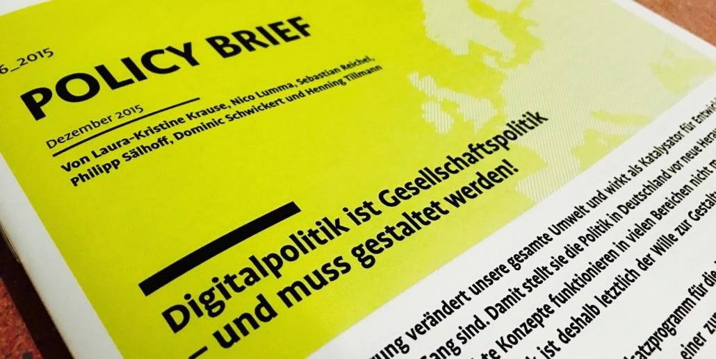 Digitalisierung Gestalten Anforderungen An Die Politik